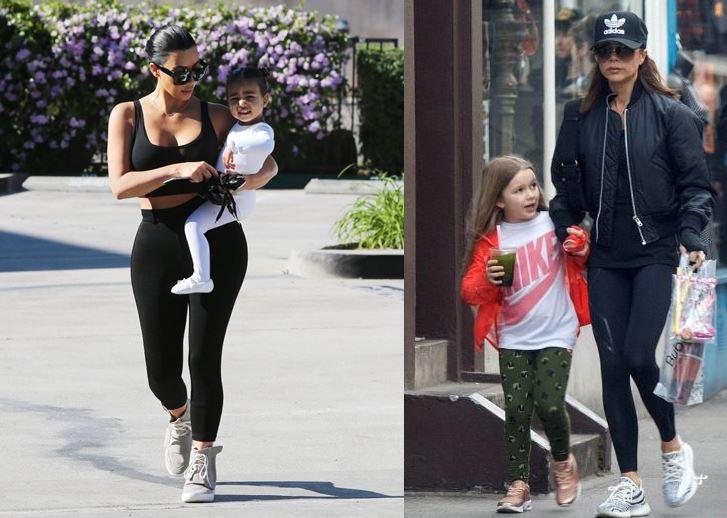 Kim Kardashian and Victoria Beckham